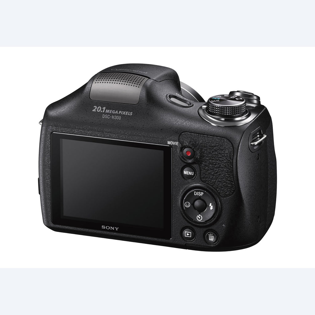 Sony Cyber-Shot DSC-H300 Point & Shoot Digital Camera (Black) 35x Optical Zoom with Camera Case