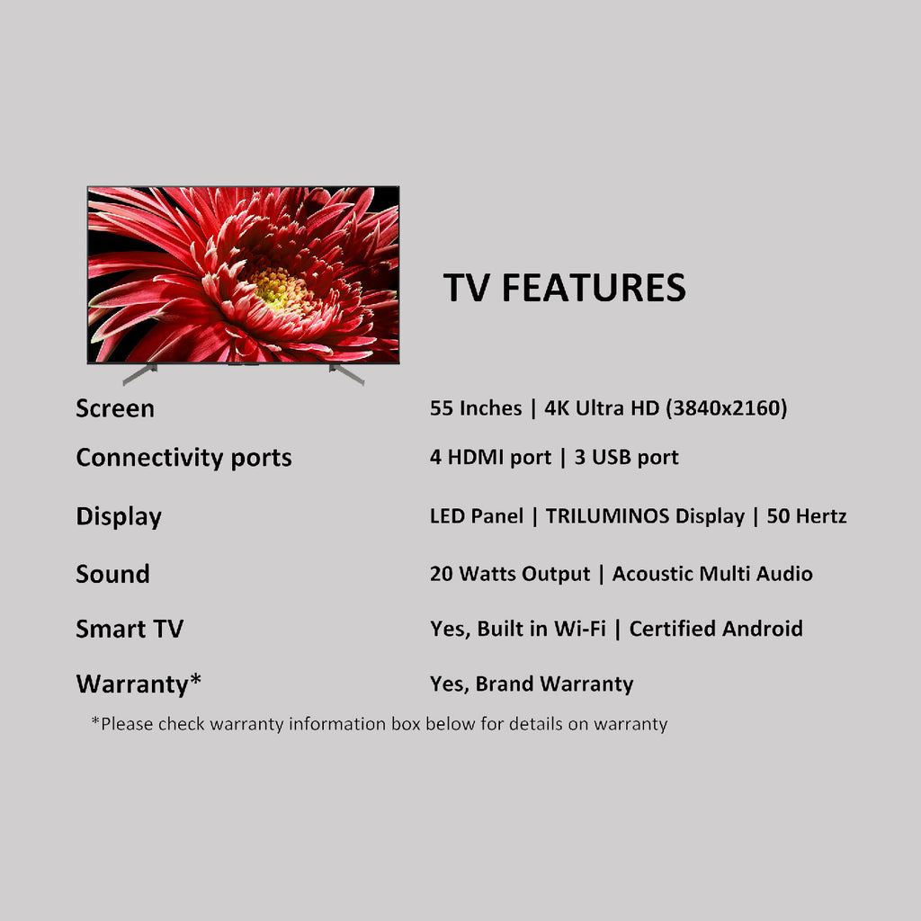 KD-55X8500G - Sony Bravia 138 cm (55) 4K Ultra HD Certified Android LED TV  (Black)