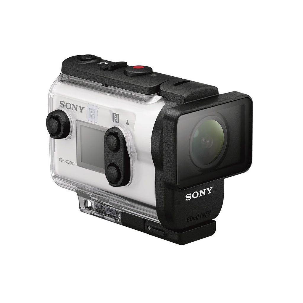 Sony Action Cam FDR-X3000 Digital 4K Video Camera Recorder (White)