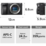 Sony Alpha ILCE-6400M 24.2MP Mirrorless Digital SLR Camera (Black) with 18-135mm Power Zoom Lens (APS-C Sensor, Real-Time Eye Auto Focus, 4K Vlogging Camera, Tiltable LCD) - Black