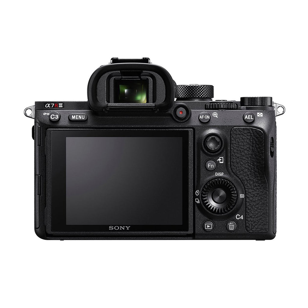 Sony Alpha ILCE-7R III Full-Frame 42.4MP Mirrorless Digital SLR Camera Body (4K Full Frame, Real-Time Eye Auto Focus, Real time Animal Eye AF, Tiltable LCD) - Black