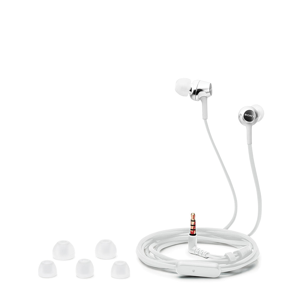 Sony MDR-EX155AP Wired Extra Bass in-Ear Headphones with Tangle Free Cable, 3.5mm Jack, Headset with Mic for Phone Calls and 1 Year Warranty