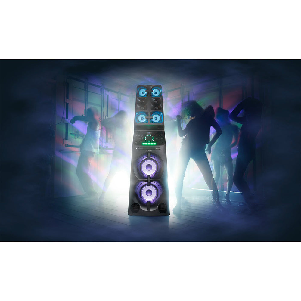 Sony Party Speaker MHC-V90DW with all-in-One Music System and  Lighting Effects (Black)