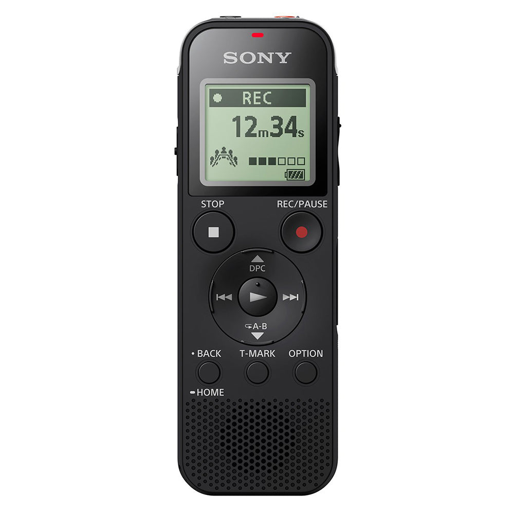 Sony ICD-PX470F Light Weight Voice Recorder 4GB Built-in Memory -Black
