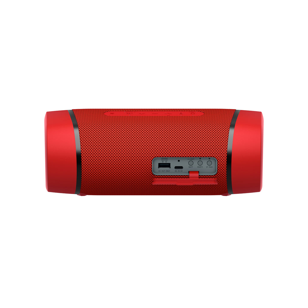 Sony SRS-XB33 Wireless Extra Bass Bluetooth Speaker with 24 Hours Battery Life, Party Lights, Party Connect, Waterproof, Dustproof, Rustproof, Speaker with Mic, Loud Audio for Phone Calls