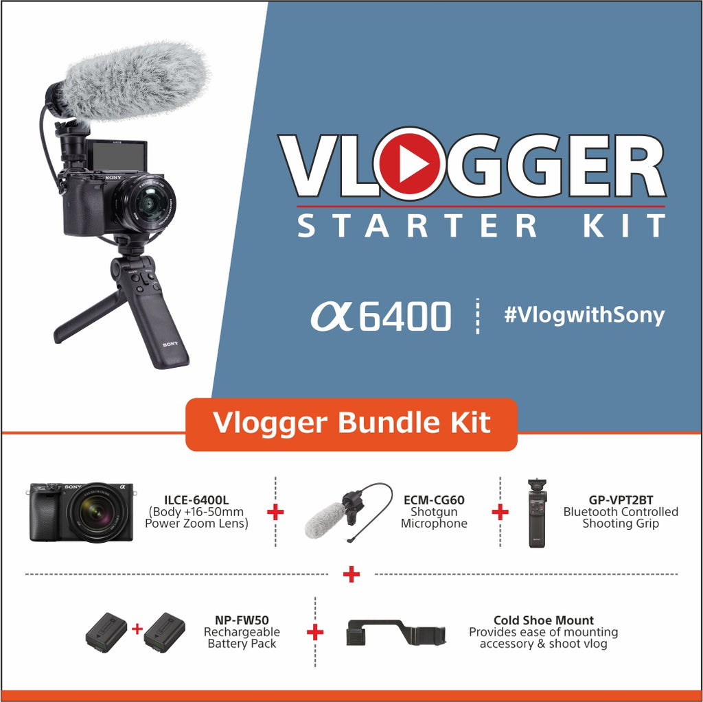 Sony Alpha 6400 Vlogger Starter kit