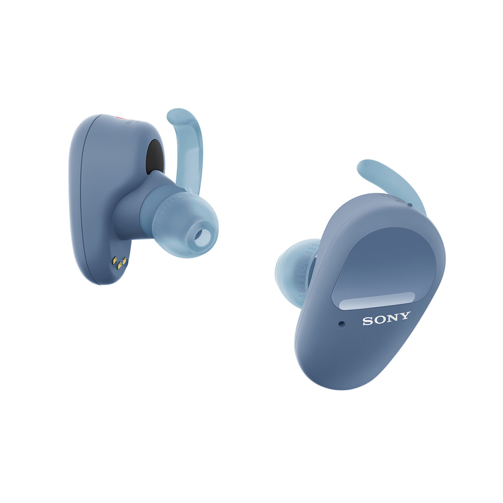 Sony WF-SP800N Truly Wireless Sports Noise Cancellation Extra Bass Bluetooth Earbuds/Headphones, True Wireless Earbuds with Mic for Phone Calls, 26 hrs Battery Life & Alexa Voice Control (Blue)
