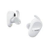 Sony WF-SP800N Truly Wireless Sports Noise Cancellation Extra Bass Bluetooth Earbuds/Headphones, True Wireless Earbuds with Mic for Phone Calls, 26 hrs Battery Life & Alexa Voice Control (White)