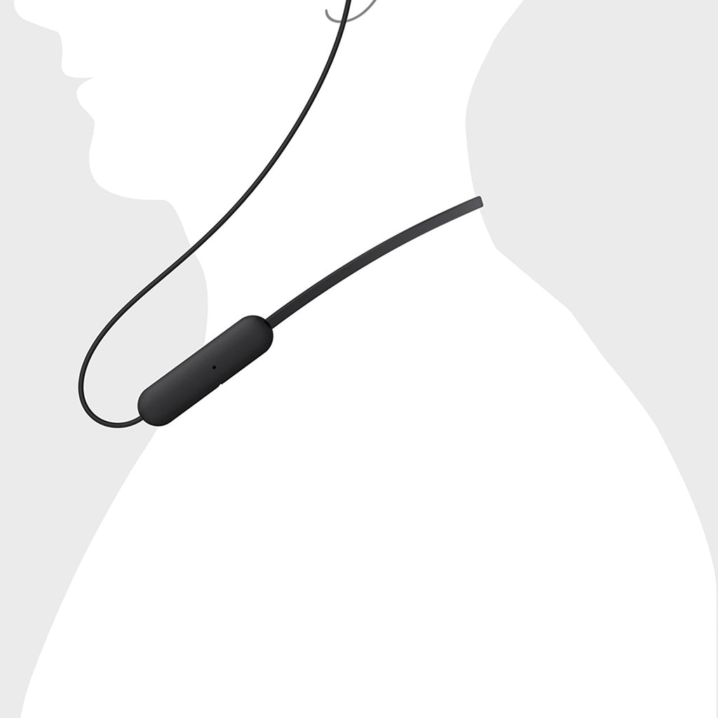 Sony WI-C200 Wireless Bluetooth in-Ear Headphones with Mic, 15 Hours Battery Life, Quick Charge, Magnetic Earbuds and Tangle Free Cord
