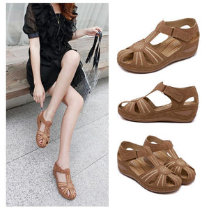 Hollow Out Klettkeile Sandalen