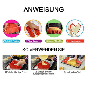 Bequee Silikon Kuchen Form DIY, 4er in Set
