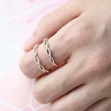 Laden Sie das Bild in den Galerie-Viewer, Verdrehen-Ring,Twist-Ring,Diamant-Ring