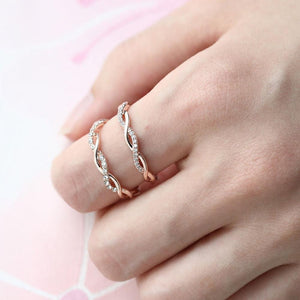 Verdrehen-Ring,Twist-Ring,Diamant-Ring