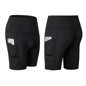Hohe Taille Laufen Yoga Shorts