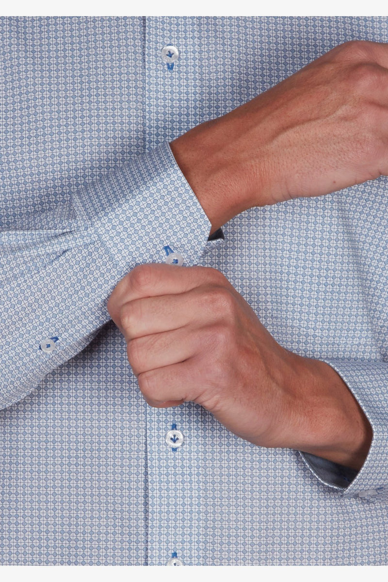 Abelard | Abaco Print Classic Fit Business Shirt