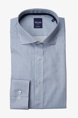 Abelard | Abaco Print Classic Fit Business Shirt Blue 40