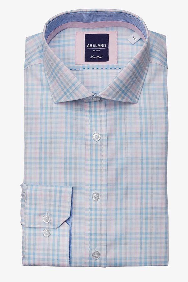 Abelard | Controllo Sottile Slim Business Shirt Pink 38