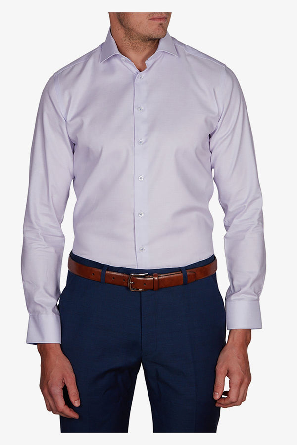 Abelard | Dolomiti Dobby Slim Fit Business Shirt Mauve 38