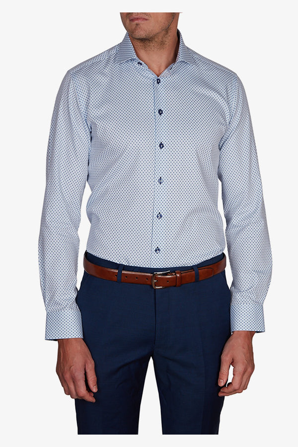 Abelard | Dotted Herringbone Slim Fit Business Shirt