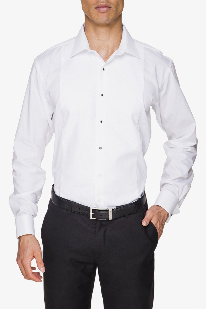 Abelard | Marcella Slim Fit Studded Dinner Shirt White 37