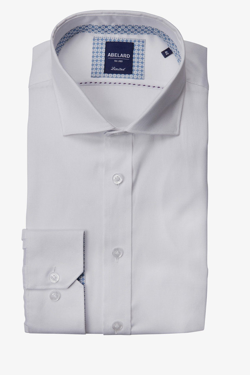 Abelard | Ottomano Dobby Slim Fit Business Shirt White 38
