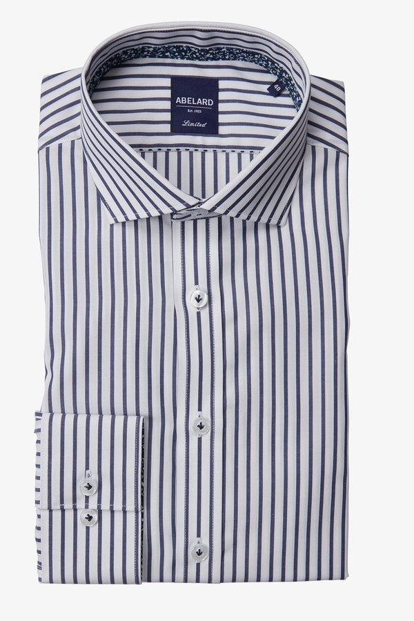 Abelard | Piazza Stripe Slim Fit Business Shirt Navy 38