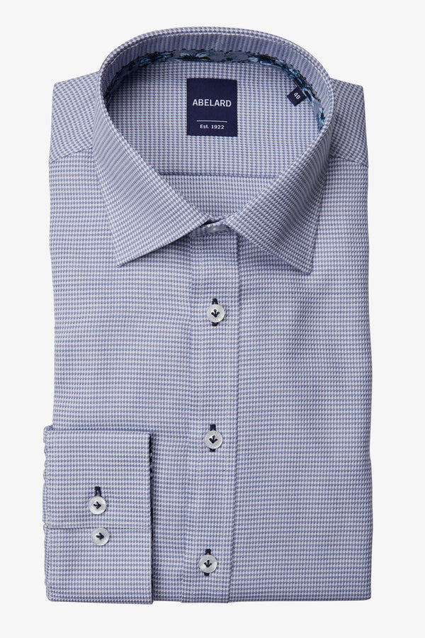 Abelard | Puppy-Tooth Check Classic Fit Business Shirt Blue 40