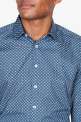Abelard | Starburst-Geo Digital Print Shirt Navy S