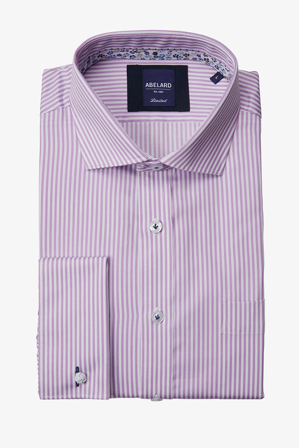 Abelard | Superfine Stripe Classic Fit Business Shirt Lilac 40