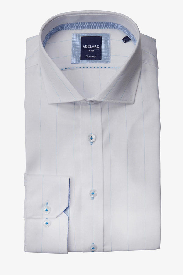 Abelard | Treno Pista Stripe Slim Fit Business Shirt White 38