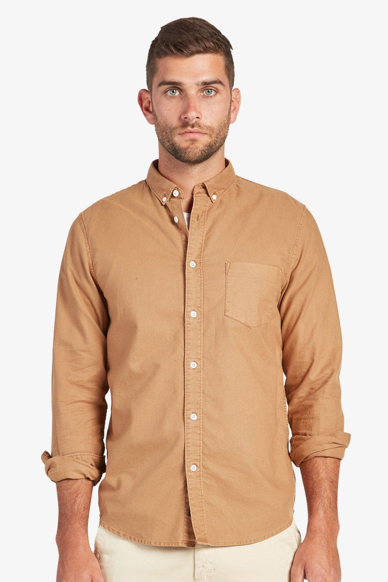 Academy Brand | Vintage Oxford Shirt Cognac S