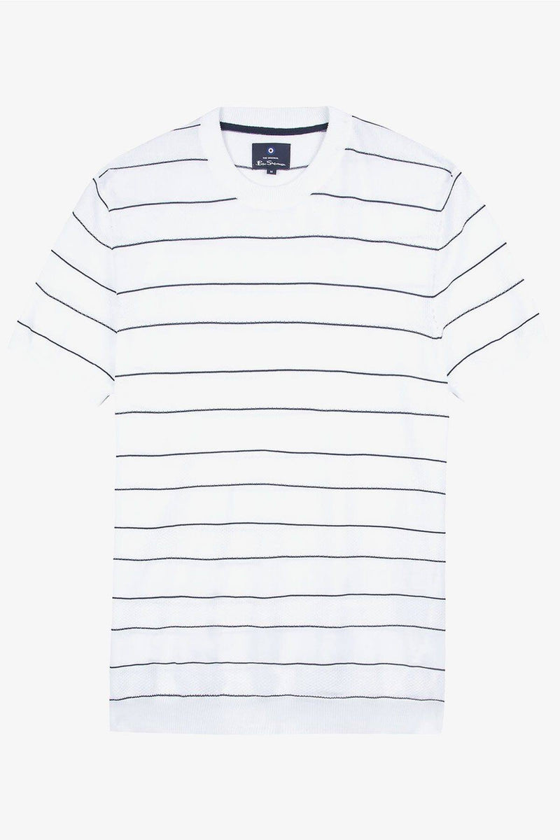 Ben Sherman | Crew Neck Stripe Knit Tee