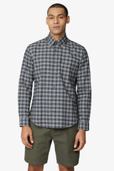 BEN SHERMAN | Oxford Check Shirt Dark Navy S