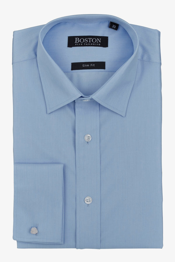 Boston | Liberty French Cuff Business Shirt Blue 37