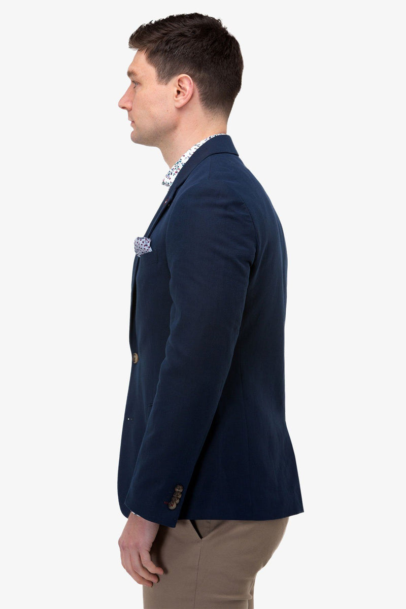 Brooksfield | Linen Blend Textured Blazer