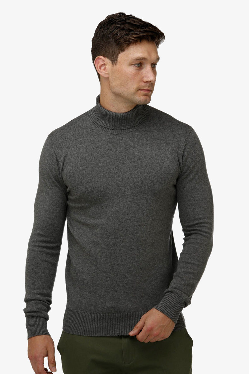 Brooksfield | Turtleneck Sweater Grey S