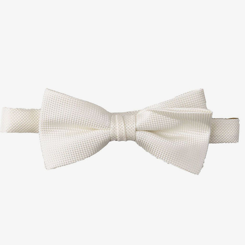 Carlo Visconti | Self pattern bow tie Ivory ALL