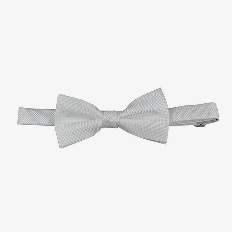 Carlo Visconti | Self pattern bow tie White ALL