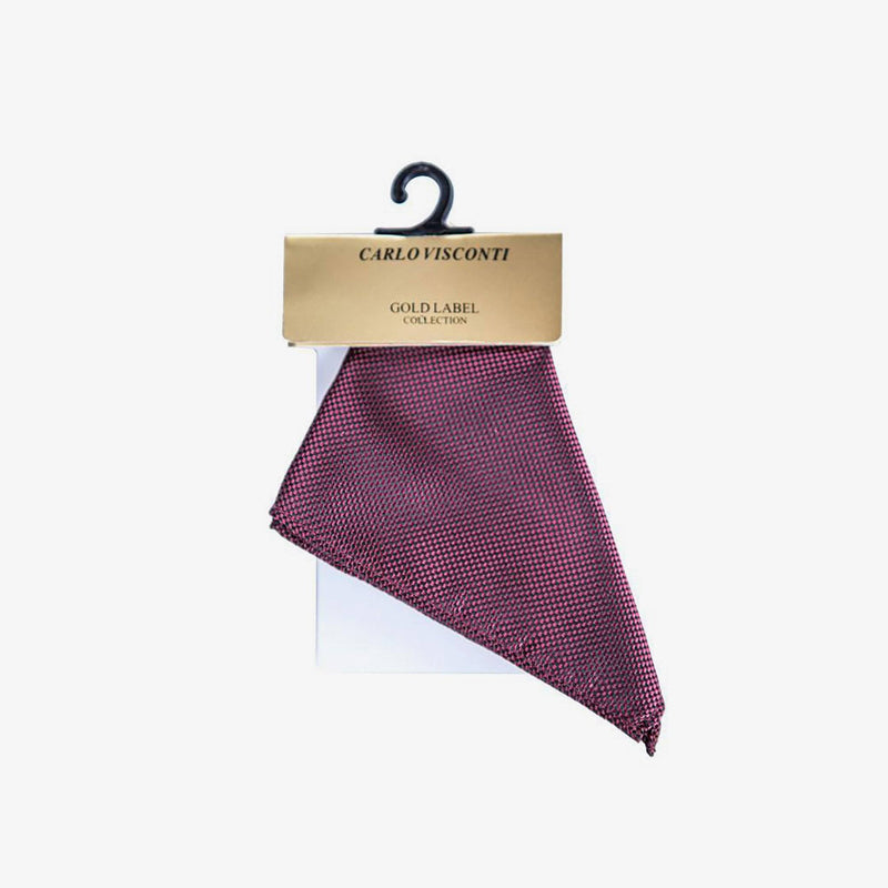 Carlo Visconti | Self pattern pocket square Burgundy ALL