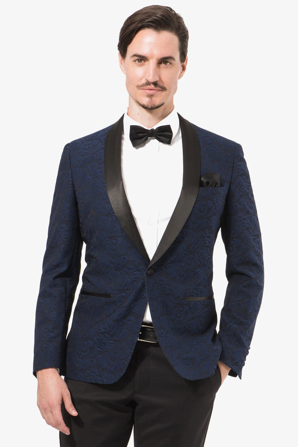 Christian Brookes | Shawl Suit Jacket Blue 92 R
