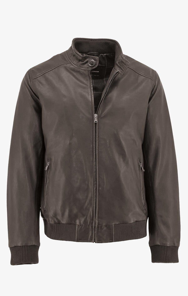 Daniel Hechter | Connor Leather Jacket Brown S