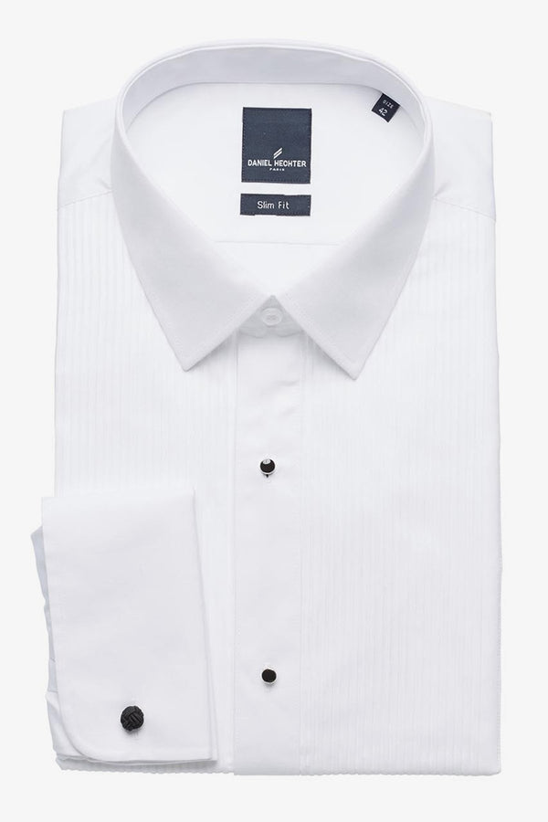 Daniel Hechter | Formal Peak Collar Dinner Shirt (Larger Sizes) White 50