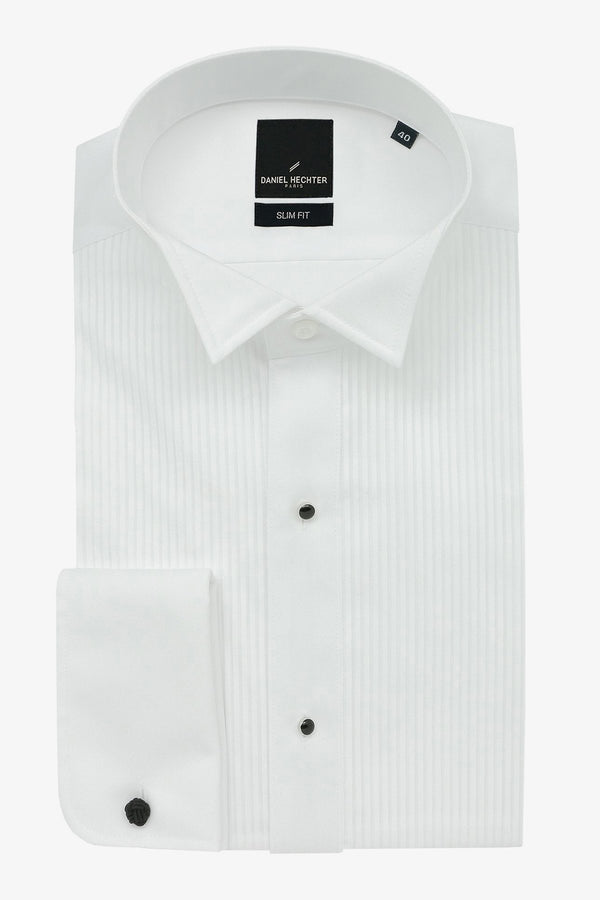 Daniel Hechter | Formal Wing Collar Dinner Shirt (Larger Sizes) White 50