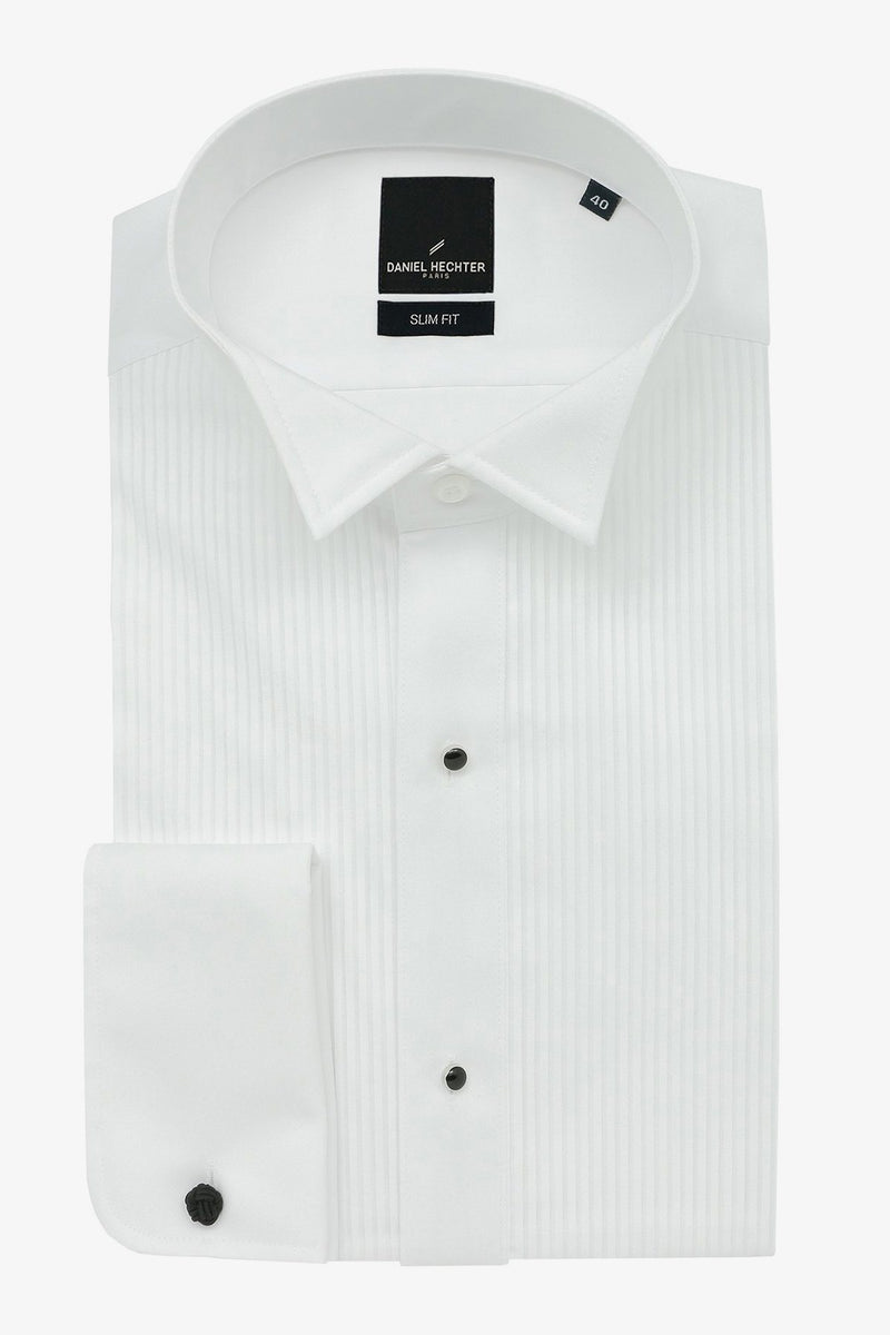 Daniel Hechter | Formal Wing Collar Dinner Shirt White 37