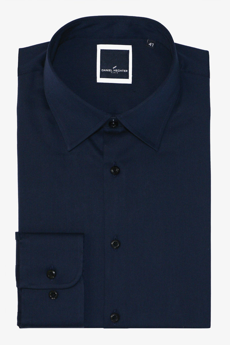 Daniel Hechter | Franco Extra Long Sleeve Business Shirt Navy 38 L