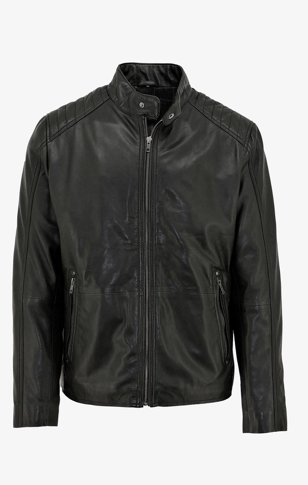 Daniel Hechter | Harrison Leather Jacket Black S
