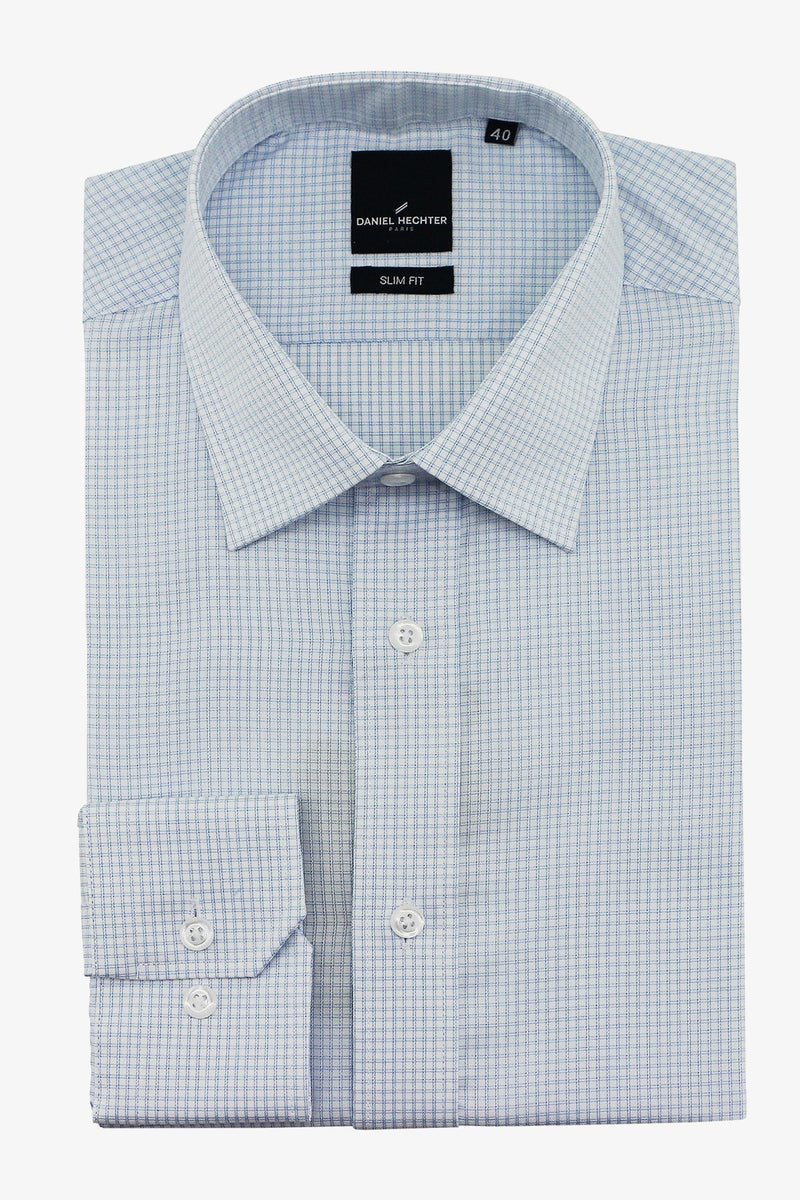 DANIEL HECHTER | LIBERTY XL SLEEVE BUSINESS SHIRT Sky 38 L