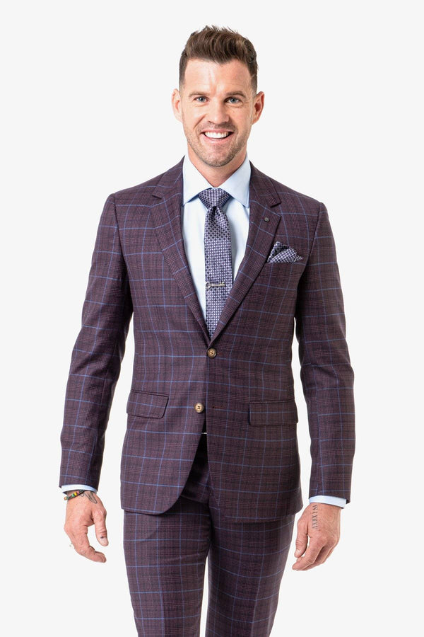 Daniel Hechter | Shape Edward Suit Burgundy 92 R