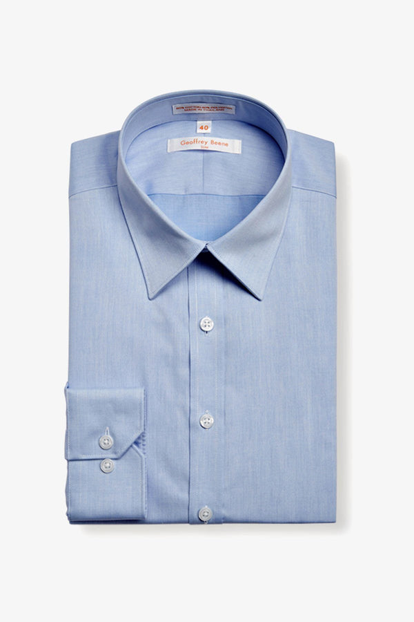 GEOFFREY BEENE | FINE TWILL SLIM FIT BUSINESS SHIRT Sky 38