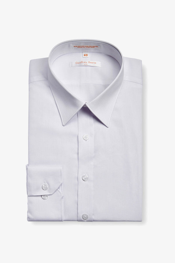 GEOFFREY BEENE | FINE TWILL SLIM FIT BUSINESS SHIRT White 38